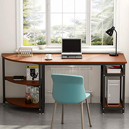 Computer Desk with Storage Shelves, LITTLE TREE 47 inch Gaming Desk & 23 inch Arch Corner Shelf, Writing Office Desk Workstation Table for Home Office, Free-Combination 2 - Table 2 Office Piece