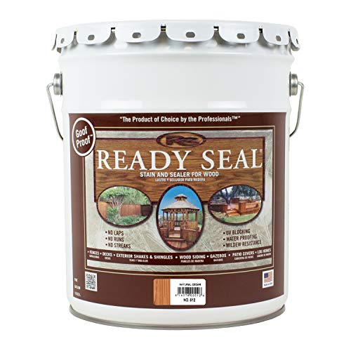 Ready Seal 512 5-Gallon Pail Natural Cedar Exterior Wood Stain and Sealer ()
