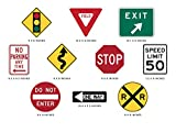 Sunny Decals Street Signs Fabric Wall Decals