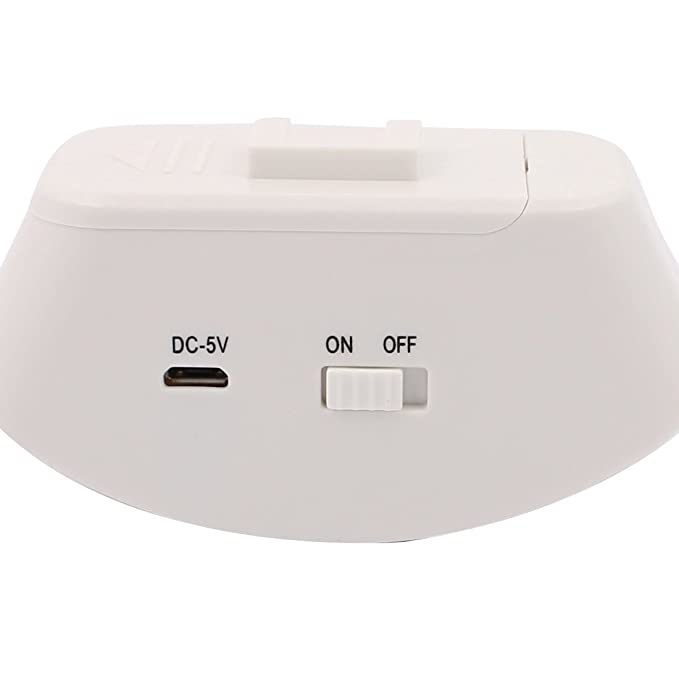 Sensor de movimiento infrarrojo inalámbrico 433MHz eDealMax de Split Bienvenido dispositivo de alarma antirrobo timbre Timbre luz de la noche Modelo M7 ...