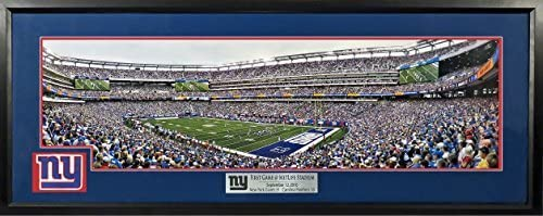 db7ade06d New York Giants First Game @ MetLife Stadium Panoramic w/ Patch (Deluxe)  Framed