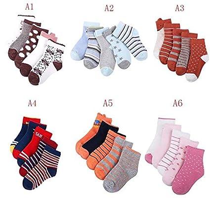 Baby Boy Girl Cartoon Cotton Socks 5 Pairs NewBorn Infant Toddler Kids Soft Sock