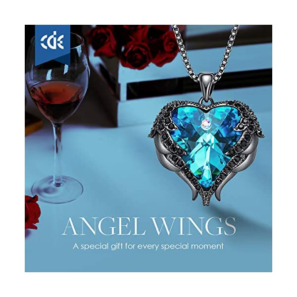 Angel Wing Love Heart Necklaces for Women Silver ToneGold Tone Pendant Valentines Day Jewelry Gifts for Women MomWifeSister