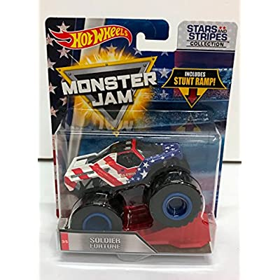 Hot Wheels Monster Jam 2020 Stars and Stripes Soldier Fortune 1:64 Scale: Toys & Games