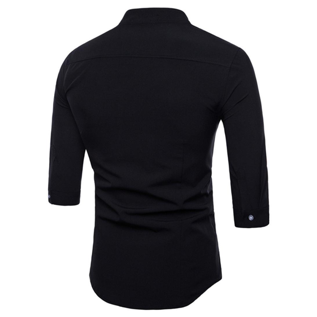 e68576297 BB67 Men's Slim Shirt Casual Half Sleeve Tee Polyester T-Shirt Suits ...