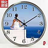 FortuneVin Wall Clock Silent movement Wall Clock Home Office Decor for Living Room Bedroom and Kitchen Clock Wall Large Rooms Quiet Meditation Silent Art-Form Creative Clock29,14 In Silver Metal Frame