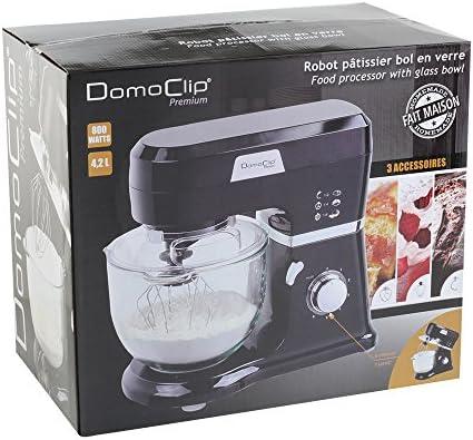 Domoclip - DOP157 - Robot de cocina con cuenco de vidrio: Amazon.es: Hogar