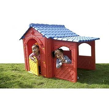 casita infantil con porche casa para nios jardin casita de juegos