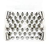 FantasyDay 52PCS Gift Set Piping Tips Stainless Steel Piping Nozzles Cake Cookies Cupcake Icing Decorating Supplies Decorating Kits Frosting Icing Tips Pastry Tips Set With Flower Nails and Couplers