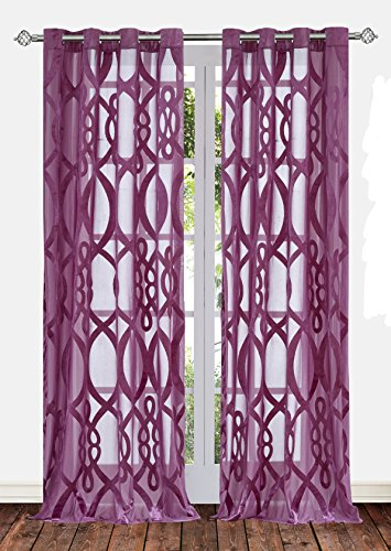 Ifblue Sheerness Filtering Geometric Curtains product image