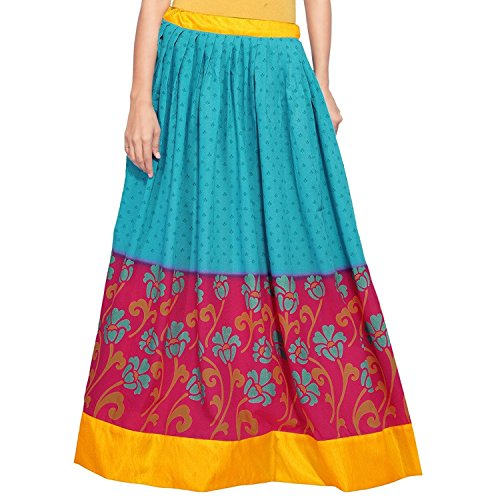 Blue Indian Skirt Cotton Women Export Magenta Admyrin Handicrfats and pRZfwRYq