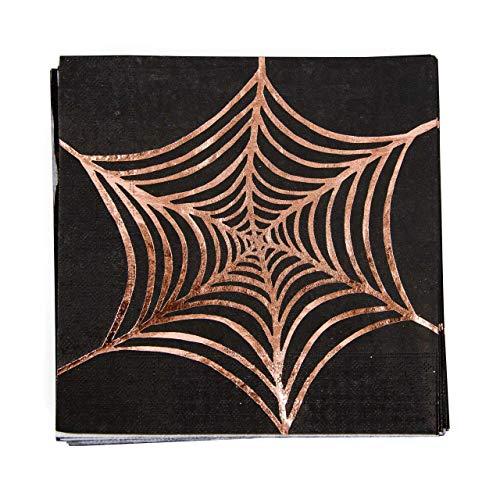 8pc Copper Foiled Black Spider Web -
