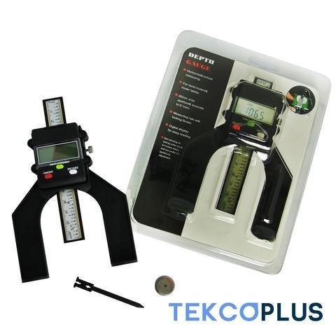 Digital 80mm (3 1/8 inch) Hand Routers Self Standing Aperture Tread Depth Gauge Magnetic Feet