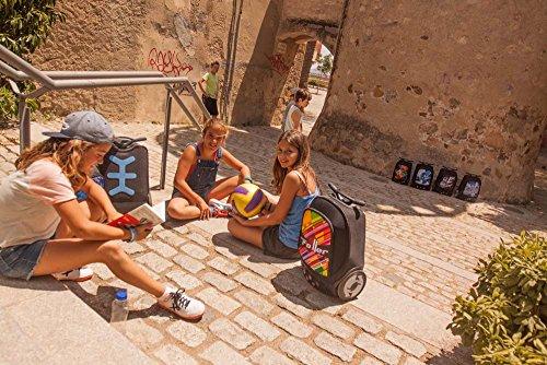 scolaire à Multicolore Taille unique Kaleido à roulettes dos NIKIDOM Sac XL XOwp4