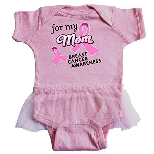 inktastic - for My Mom - Breast Cancer Infant Tutu Bodysuit 6 Months Pink ()
