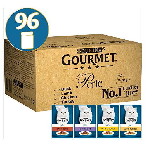 Gourmet Cat Food Perle Chef's Collection, 96 x 85 g, 96...