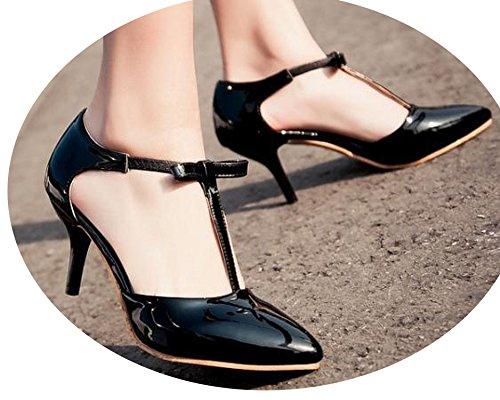 Sexy Point Patent Leather High Heels Pumps Sandal 2018 Heels Sandal Wedding Sandal 5.5cm 31-43 Size,a4,6