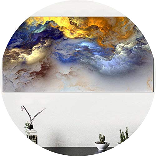 three thousand Wall Art Oil Painting Abstract Cloud Home Decor Landscape Picture for Living Room No Frame,20x40cm no Frame