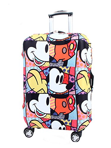 Washable Travel Luggage Cover Myosotis510 Funny Cartoon Suitcase Protector Fits 18-32 Inch Luggage]()