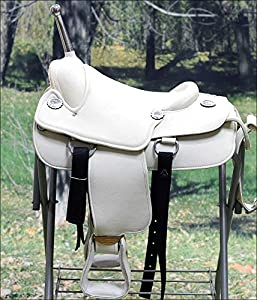 Hilason Custom Designed Rare Western Trick Riding Saddle - Off White