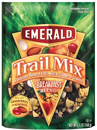 Mix Emerald (Emerald Breakfast Blend Premium Trail Mix, 5.5-Ounce Pouches (Pack of 6))