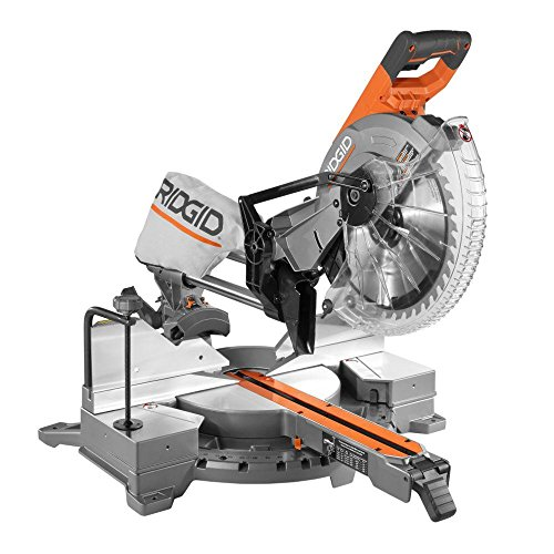 RIDGID 15 Amp 12 in. Corded Dual Bevel Sliding Miter Saw with 70° Miter Capacity
