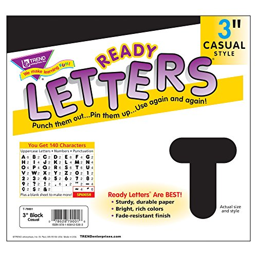 Trend Enterprises Casual Ready Letters, 125 per Package, 3
