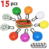 Dog Lights Collars, Clip-On Pet, Dog Collar LED Light, Dog Tag Light Led Safety Light Waterproof Dogs Cats Night Walking, Extra Replacement Batteries Dog Collar Included (Colorful)