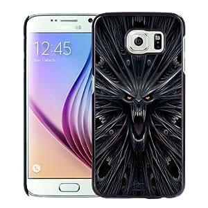 Fashionable Custom Designed Samsung Galaxy S6 Phone Case With Horror Monster Illustration_Black Phone Case