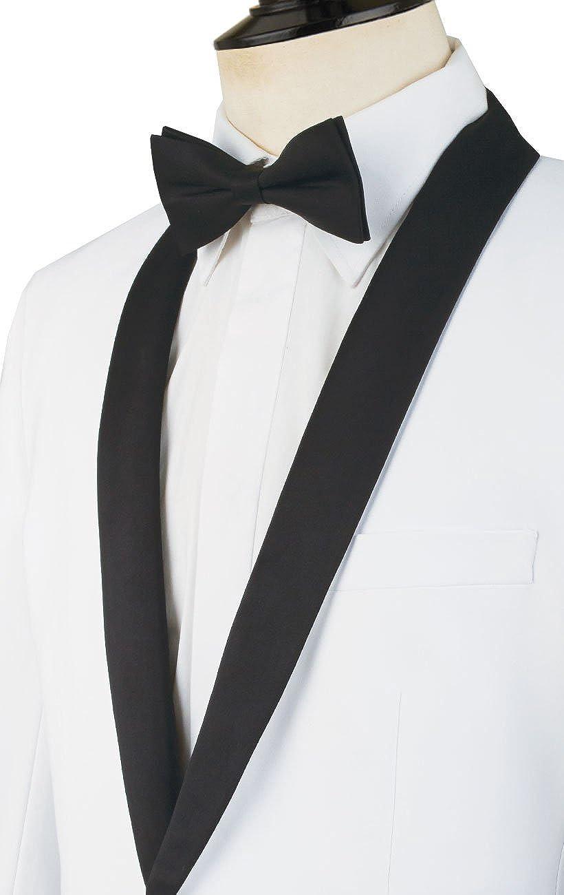 Dobell Mens Black Tuxedo Dinner Jacket Regular Fit Shawl Lapel