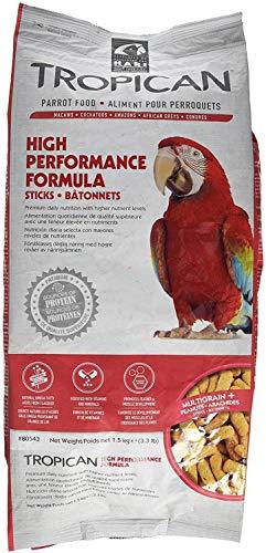 Tropican Food Sticks - Tropican High Performance Formula Sticks Parrot Food, 3.3 Pound, 2 Pack