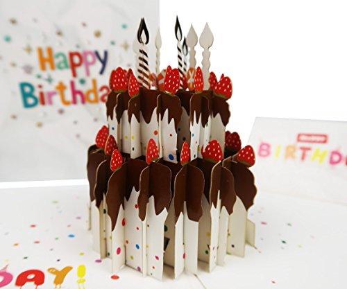 Fusolo 3D Pop Up cards, 3D Cake Cards,