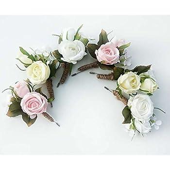 rose flower boutonniere corsage wristlet handmade floral silk fabric grooms groomsmen - Garden Rose Boutonniere