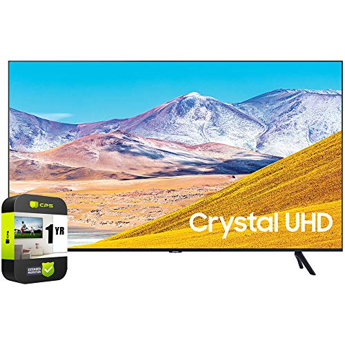 🥇 SAMSUNG UN50TU8000FXZA 50 inch 4K Ultra HD Smart LED TV 2020 Model Bundle with 1 Year Extended Protection Plan