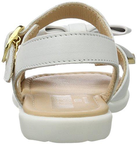 Moschino 25975 Vitello Bianco - Sandalias con Cuña Niñas Elfenbein (Weiss)