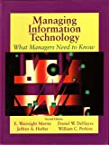 Managing Information Technology : What Managers Need to Know, Martin, Edley W., 0023767510