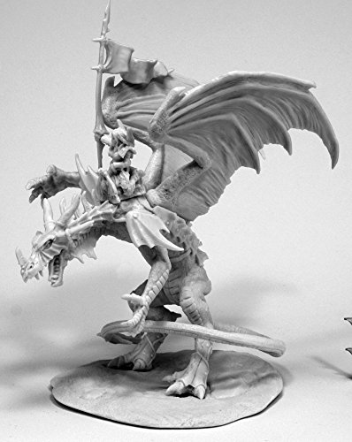 Reaper Miniatures 77557 Kyra and Lavarath (Dragon and Rider), Bones Miniature