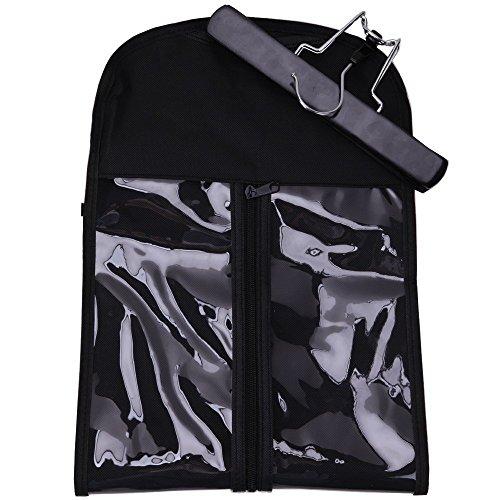 Xingoukeji Dustproof Wig Storage Bag Hair Extension Holder Hair Hanger with Zipper, Black by xingoukeji (Image #8)