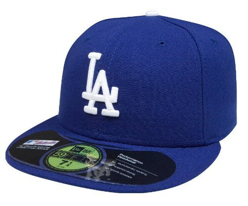 New Era Men Authentic On-Field Cap, Los Angeles Dodgers, 7 3/8