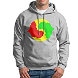 Hooded Sweatshirt Male Punk Pullover Fleece Hoodie Yin Yang Africa