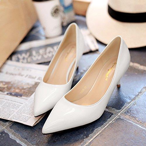 5 de invierno Zapatos con alto con tacón con mujer de individuales 5cm dama White de zapatos negro Zapatos Jqdyl tacón bajo Tacones tacón nuevos alto Zapatos de wCEwUq4B