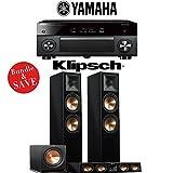 Yamaha AVENTAGE RX-A2070BL 9.2-Ch 4K Network AV Receiver + Klipsch RP-280F + Klipsch RP-440C + Klipsch R-112SW - 3.1-Ch Home Theater Package (Piano Black)