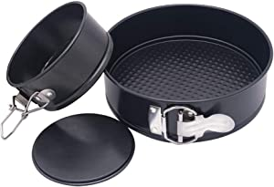 Springform Pan, Set of 2, 4 Inch Mini Cake Pan & 7 Inch Springform Pan, Non Stick Cheesecake Pan Set with Removable Bottom, Fits 5, 6, 8 Quart Instant Pot Pressure Cooker