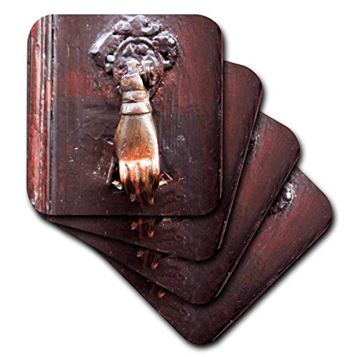 3dRose Danita Delimont - Knockers - Turkey, Anatolia, Aspendos, hand of Fatima door knocker. - set of 8 Ceramic Tile Coasters (cst_312847_4)