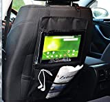 Joyoldelf Car Back Seat Organiser Hanging Storage Bag with Touch Screen iPad Holder & Separate Pockets for Storing Toys, Smartphone, Snacks, Watches, Books and More