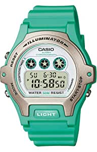 Ladies Illuminator Water-Resistant Watch White Dial & Green Resin Strap