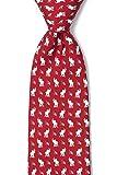 Red Silk Tie | Republican Elephants Necktie