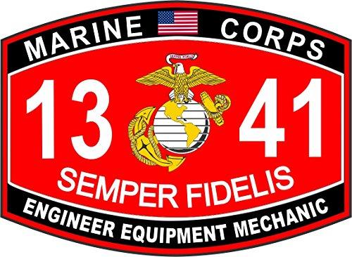 - Magnet Engineer Equipment Mechanic Marine Corps MOS 1341 USMC US Marine Corps Military Car Bumper Magnet Sticker Magnetic Vinyl Decal 3.8
