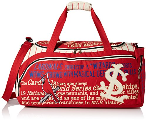 MLB St. Louis Cardinals Historical Art Duffel Bag, One Size Fits All, Red by Forever Collectibles
