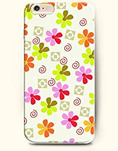 OOFIT Apple iPhone 6 Case 4.7 Inches - Flowers with Colorful Petals